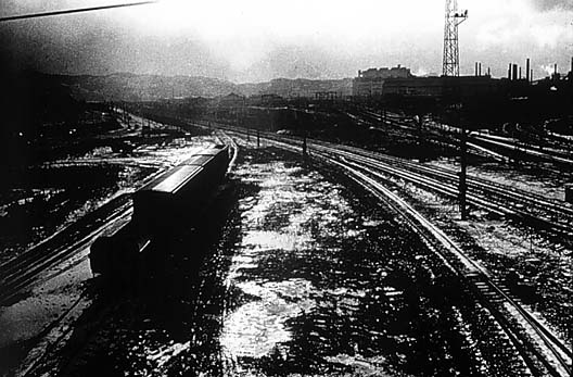 Daido Moriyama. 'Untitled (Train Yard)' 1982