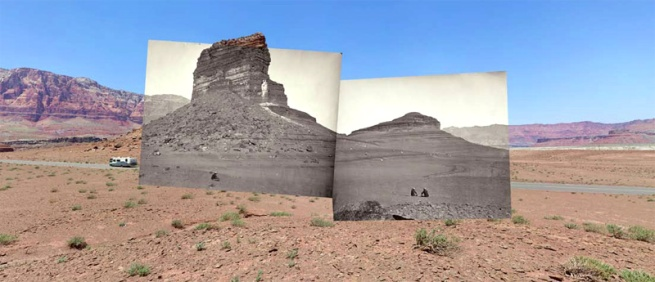 Mark Klett and Byron Wolfe. 'Rock formations on the Road to Lee's Ferry, Arizona' 2008