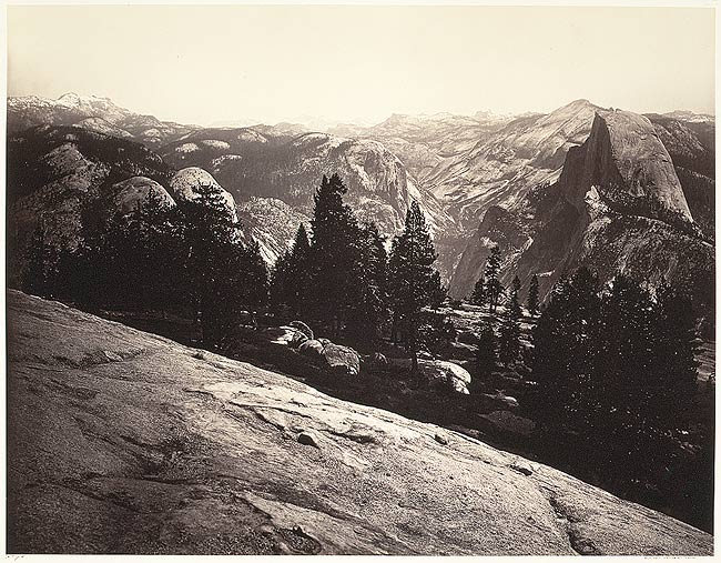 Carelton Watkins. 'View from the Sentinel Dome, Yosemite' 1865-66