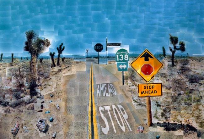 David Hockney. 'Pearblossom Highway., 11 - 18th April 1986 #2' 1986