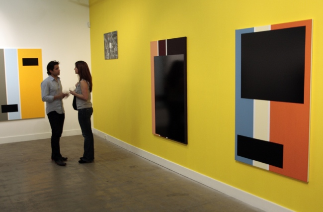 Opening night crowd at 'Colour, Time' by David Thomas