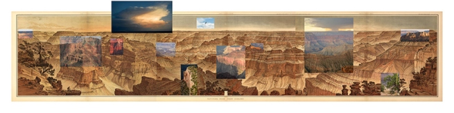 Mark Klett and Byron Wolfe. 'Details from the view at Point Sublime on the north rim of the Grand Canyon' 2007