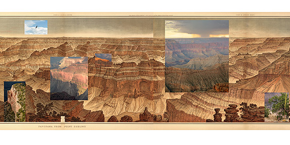 Mark Klett and Byron Wolfe. 'Details from the view at Point Sublime on the north rim of the Grand Canyon' 2007 (detail)