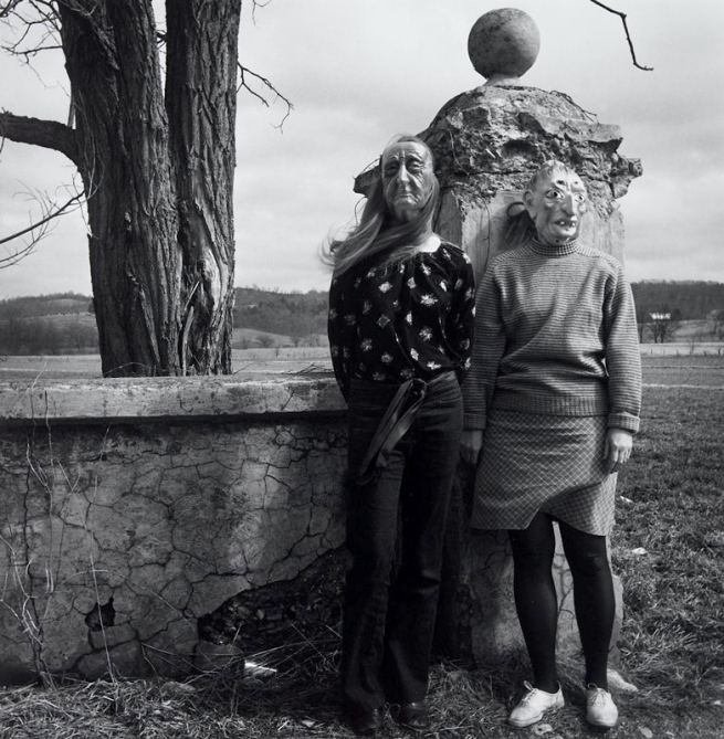 Eugene Meatyard. 'Lucybelle Crater & her 15-year-old son's friend, Lucybelle Crater' 1970-1