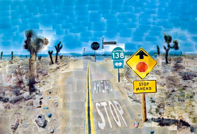 David Hockney. 'Pearblossom Highway., 11 - 18th April 1986 #2' 1986