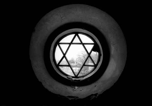 Jeffrey Gusky. 'Broken stained glass window, Wielkie, Oczy' 2001