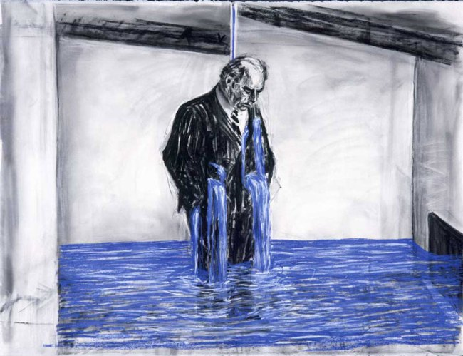 William Kentridge. Drawing for the film Stereoscope [Felix Crying]' 1998–99