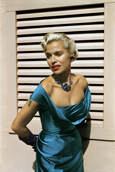 Paul Outerbridge. 'Model with Satin Dress, Laguna Beach, California' c.1950