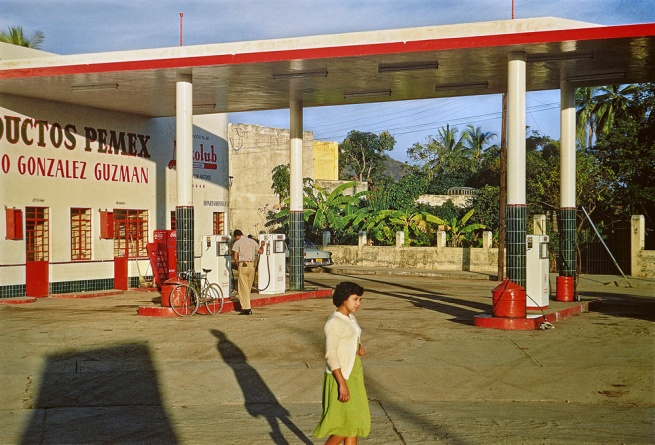 Paul Outerbridge. 'Gas Station, Mazatlán, Mexico' c. 1950