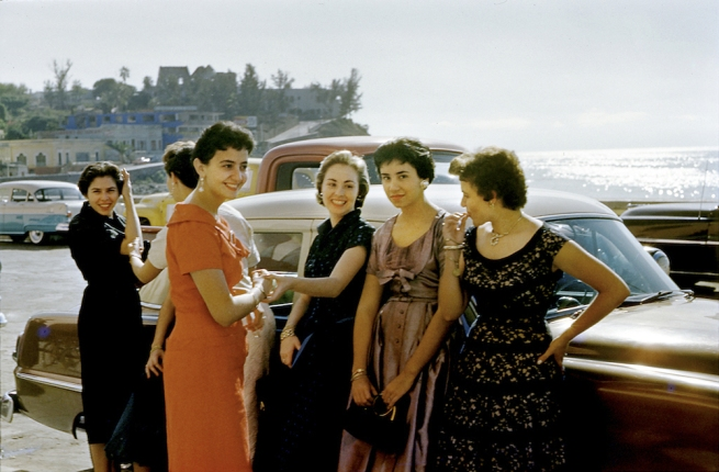 Paul Outerbridge. 'Women by Car, Laguna Beach, California' c. 1950