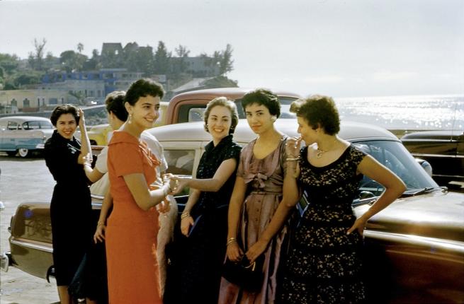 Paul Outerbridge. 'Women by Car, Laguna Beach, California' c. 1950