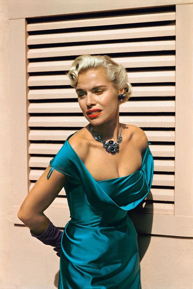 Paul Outerbridge. 'Model with Satin Dress, Laguna Beach, California' c. 1950
