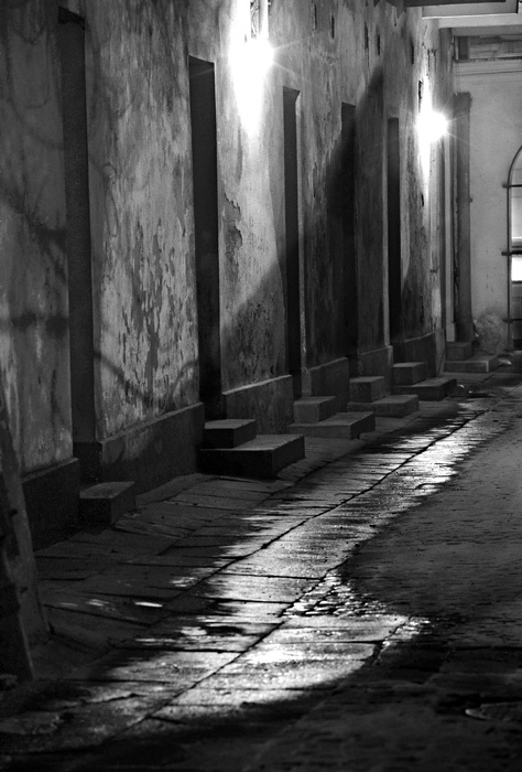 Jeff Gusky. 'Corridor in Kazimierz (Former Jewish District)' Cracow, Poland 1996