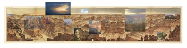 Mark Klett and Byron Wolfe. 'Details from the view at Point Sublime on the north rim of the Grand Canyon, based on the panoramic drawing by William Holmes (1882)' 2007