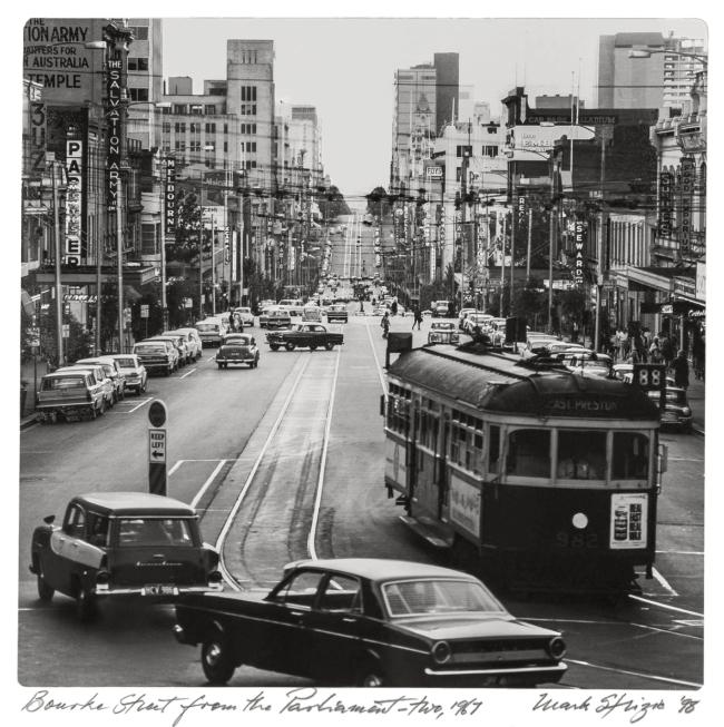 Mark Strizic(Australian, 1908-2012) 'Bourke Street from the Parliament' 1967