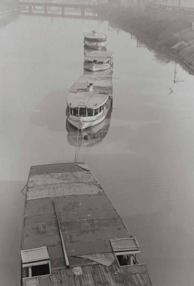 Mark Strizic(Australian, 1908-2012) 'From Princes Bridge' (Winter moorings from Princes Bridge) 1955