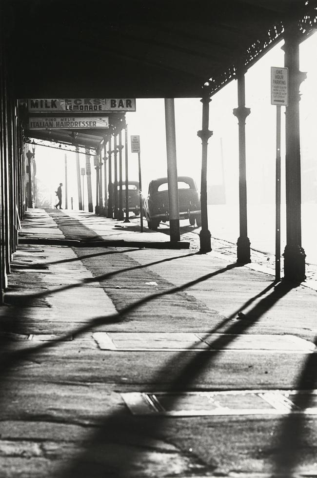 Mark Strizic(Australian, 1908-2012) 'Queensberry Street at Errol Street, North Melbourne' 1963