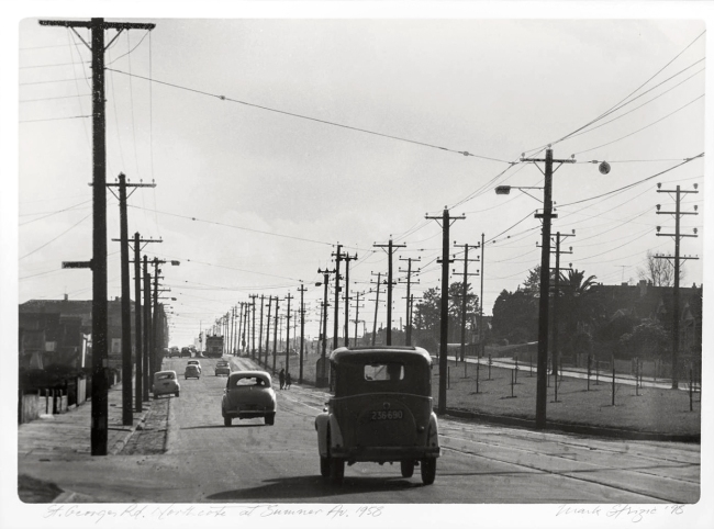 Mark Strizic(Australian, 1908-2012) 'St Georges Road,Northcote at Summer Av.' 1958