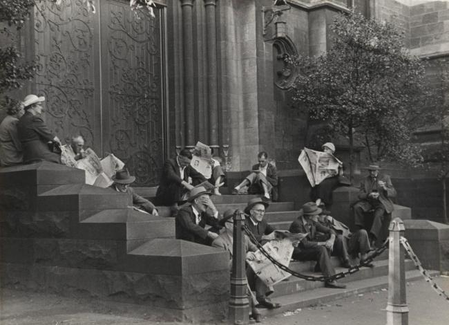Mark Strizic(Australian, 1908-2012) 'St Paul's Cathedral steps' 1954