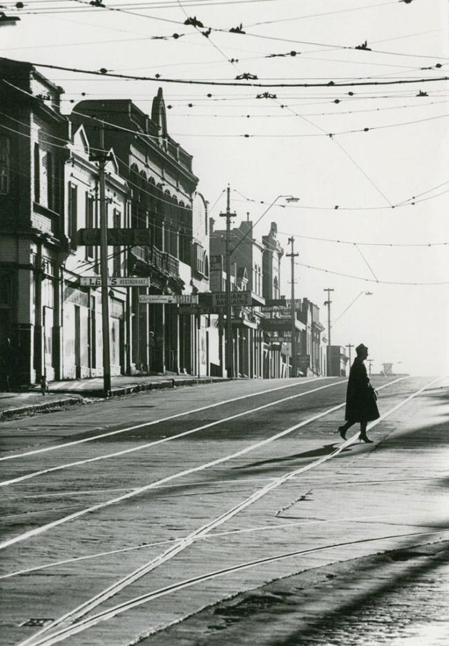 Mark Strizic(Australian, 1908-2012) 'Swan Street, Richmond, at Church Street' 1963