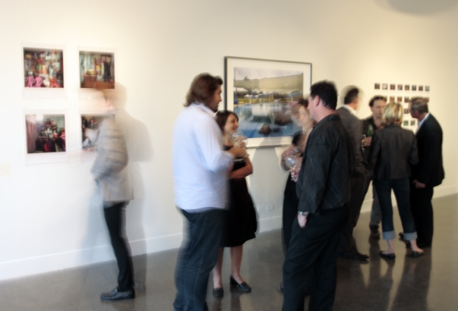 'Territories' opening night crowd at Project Space/Spare Room, Melbourne