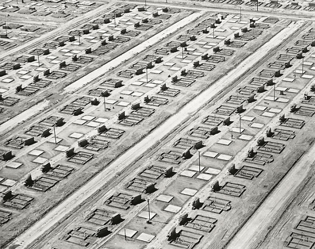 William Garnett. 'Foundations and Slabs, Lakewood, California' 1950