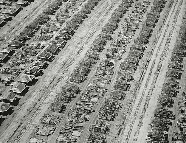 William Garnett. 'Framing, Lakewood, California' 1950