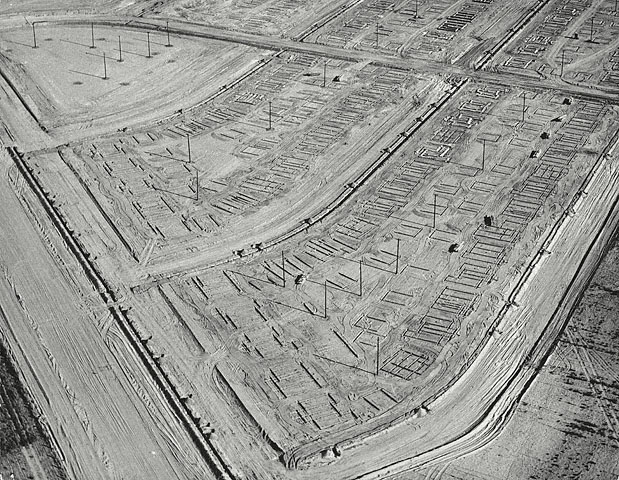 William Garnett. 'Trenching, Lakewood, California' 1950