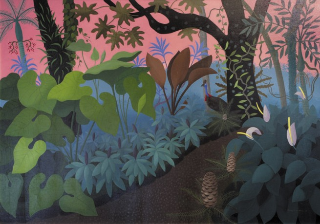 Anne Marie Graham. 'Jungle with Cassowary' 2008