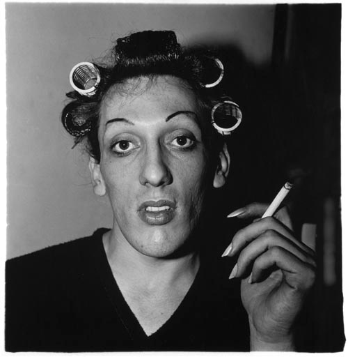 Diane Arbus. 'A young man with curlers at home on West 20th Street, N.Y.C.,' 1966