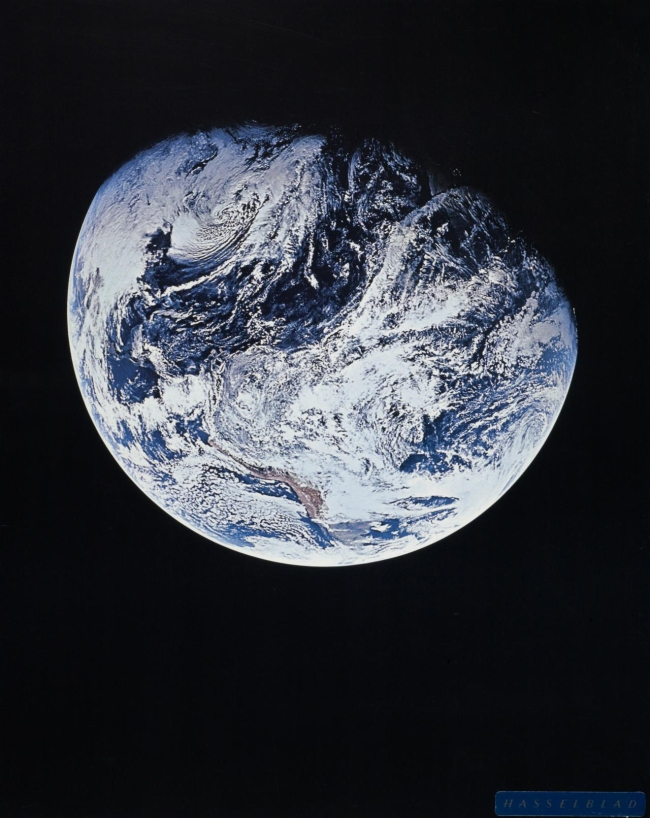 Apollo 8 crew (photographer) 'The Earth showing Southern Hemisphere' 1969