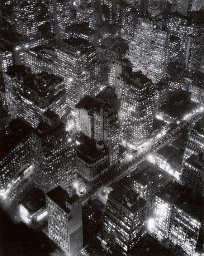 Bernice Abbott. 'Night View, New York City' 1932