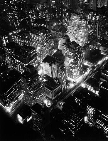Bernice Abbott. 'Nightview, New York City' 1932