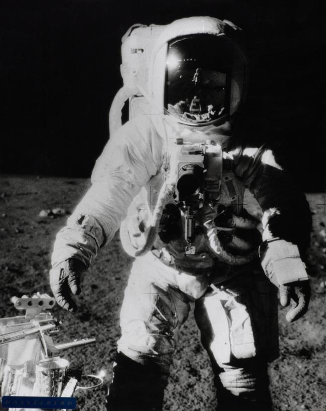 Charles Conrad. 'Astronaut Bean, Apollo XII, November 1969, on moon' 1969
