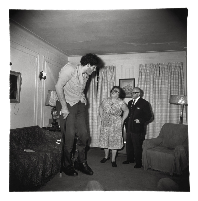 Diane Arbus. 'A Jewish Giant at home with his parents in the Bronx' 1967
