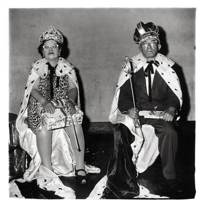 Diane Arbus (American, 1923-1971) 'King and Queen of a senior citizens' dance, N.Y.C.' 1970
