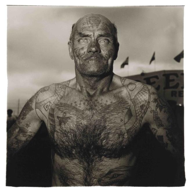 Diane Arbus(American, 1923-1971) 'Tattooed Man at a Carnival, Md.' 1970