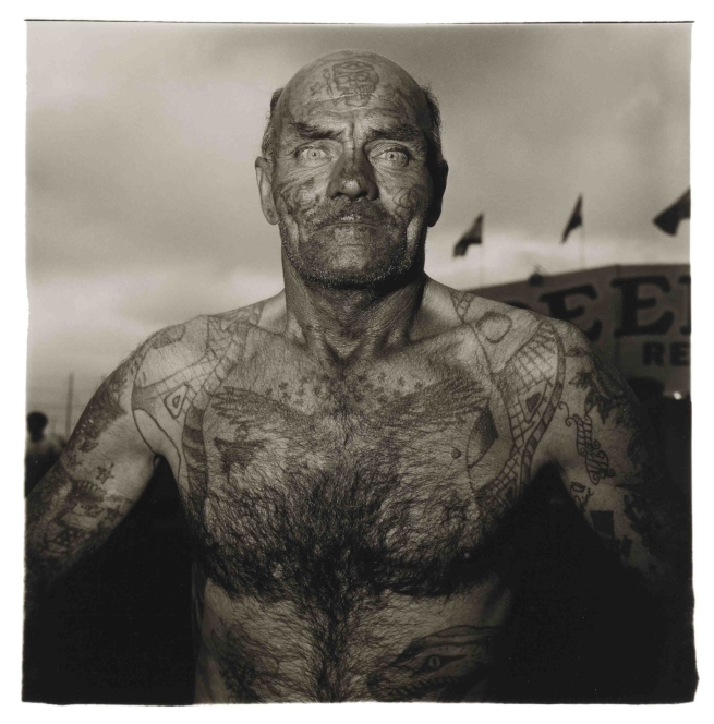 Diane Arbus (American, 1923-1971) 'Tattooed Man at a Carnival, Md.' 1970