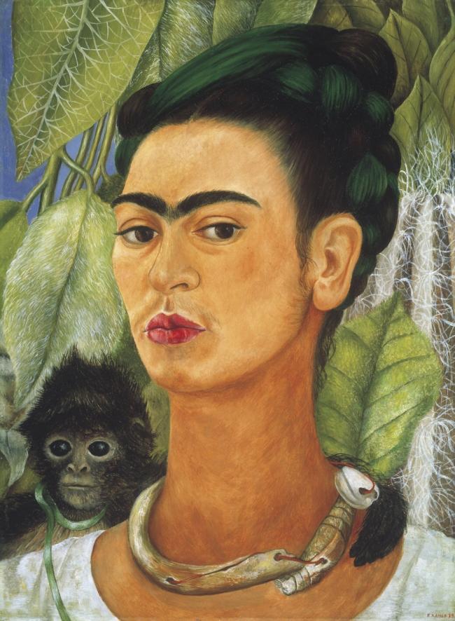 Frida Kahlo. 'Self-Portrait with Monkey' 1938