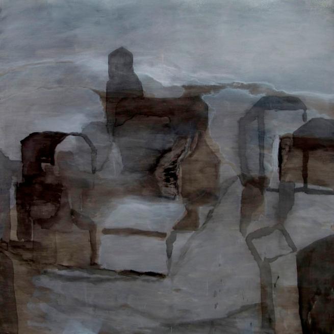 Domenico de Clario. 'l (le lapin agile and rue du mont cenis - snow receding)' 2008/09