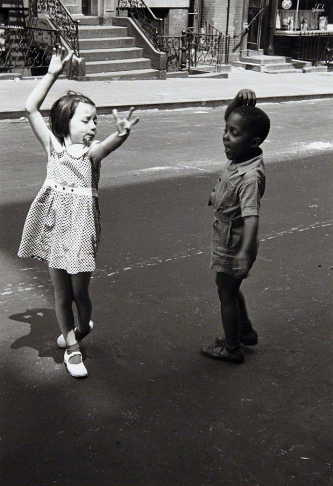 Helen Levitt(American, 1913-2009) 'Kids Dancing, New York' c. 1940