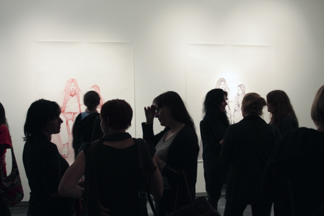 Opening night crowd at 'So It Goes' by Laith McGregor at Helen Gorie Gallery, Melbourne