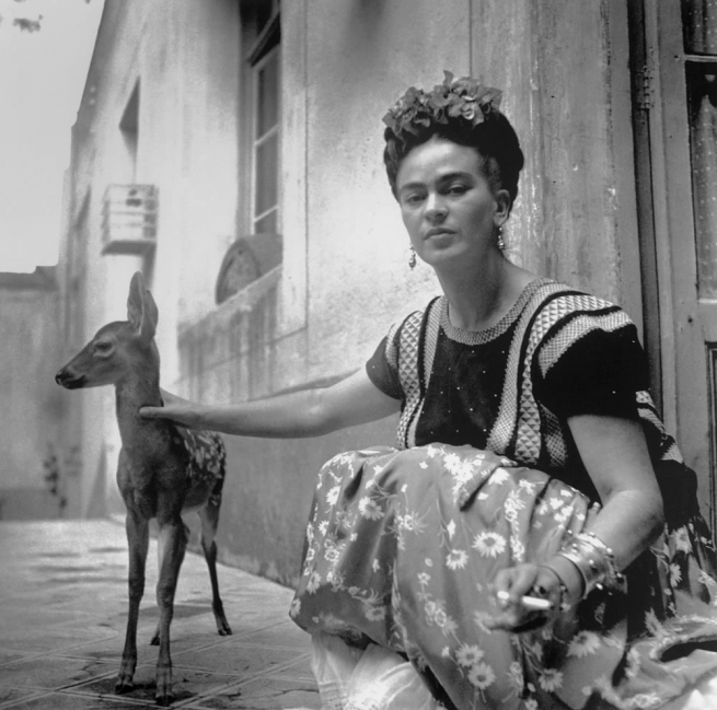 Nickolas Muray (American, 1892-1965) 'Frida with Granizo, Coyoacán' 1939
