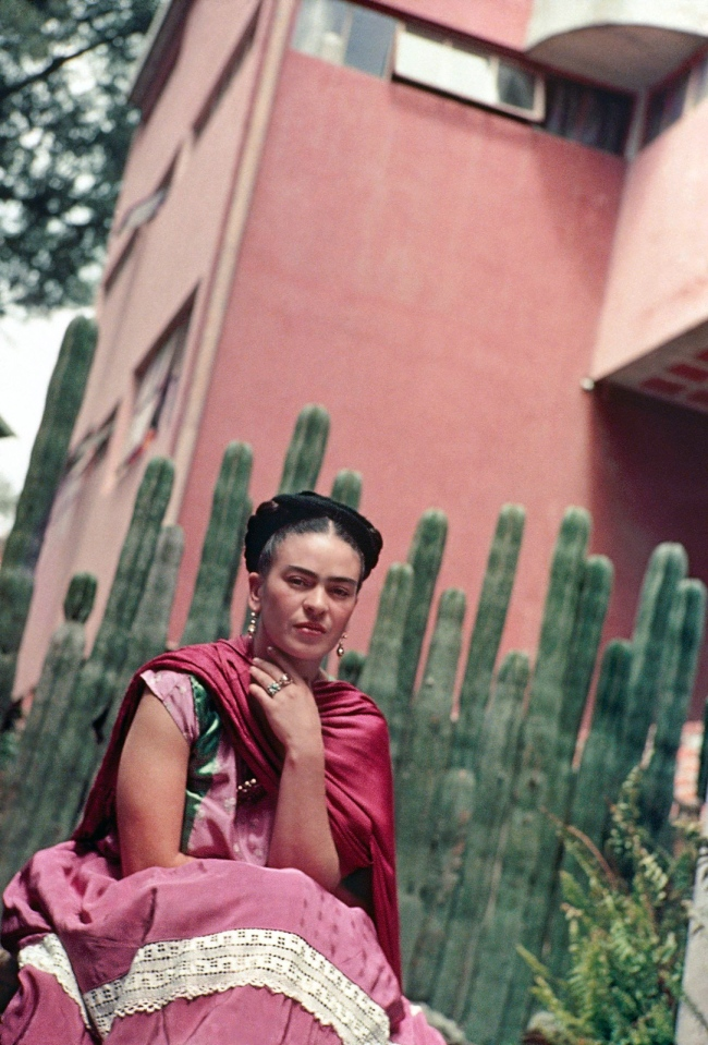 Nickolas Muray(American, 1892-1965) 'Frida in Front of the Cactus Organ Fence, San Angel' 1938
