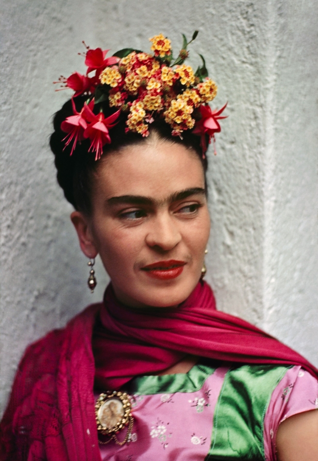Nickolas Muray (American, 1892-1965) 'Frida in Pink and Green Blouse, Coyoacán' 1938