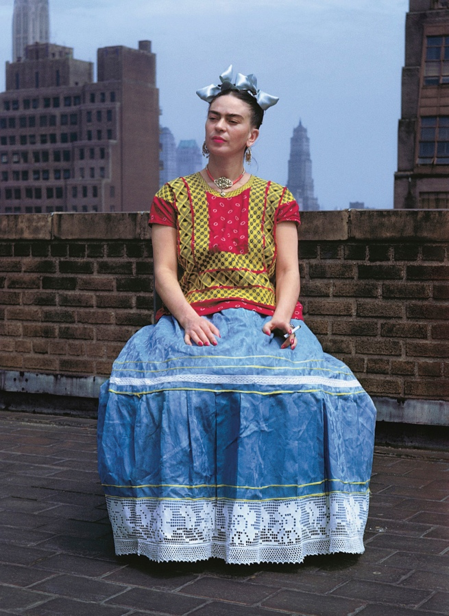 Nickolas Muray(American, 1892-1965) 'Frida on Rooftop, New York' 1946