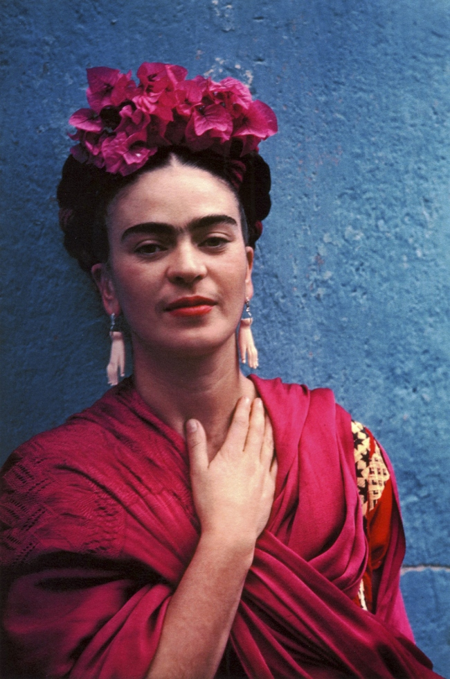 Nickolas Muray(American, 1892-1965) 'Frida With Hand at Her Throat, Mexico City' 1940