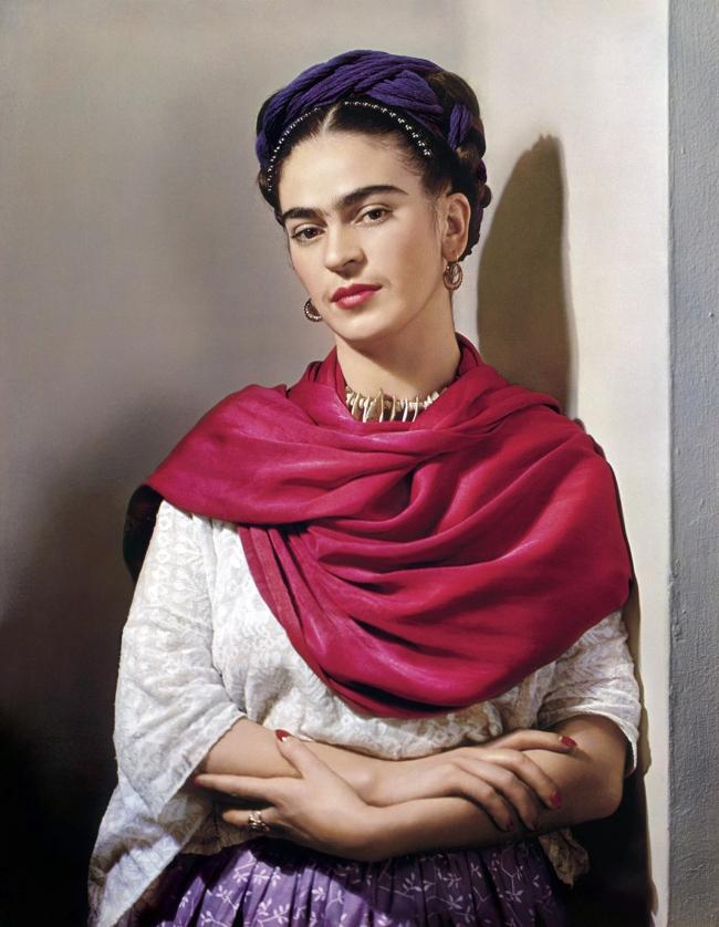Nickolas Muray(American, 1892-1965) 'Frida with Magenta Rebozo, New York' 1939