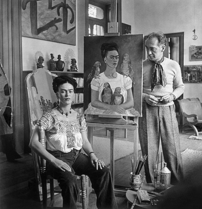 Nickolas Muray (American, 1892-1965) 'Frida with Nick in her Studio, Coyoacán' 1941