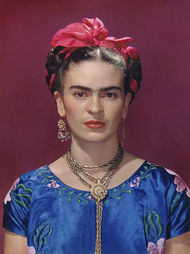 Nickolas Muray. 'Frida with Blue Satin Blouse, New York' 1939